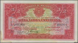 "Mozambique: Companhía De Moçambique Pair With 20 Centavos 1933 P.R29 With Perforation ""PAGO 5.11.194 - Mozambique"