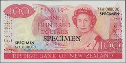 New Zealand / Neuseeland: 100 Dollars ND(1981-89) SPECIMEN With Signature: Hardie, P.175s, Laminated - New Zealand