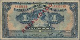 "Nicaragua: 1 Cordoba 1932 (1934) With Overprint ""REVALIDADO"", P.71 In About VG/F Condition. - Nicaragua"
