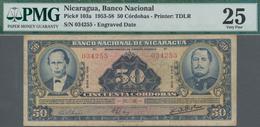 Nicaragua: Banco Nacional De Nicaragua 50 Cordobas 1958, P.103a, Lightly Toned Paper And A Few Folds - Nicaragua