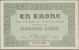 Norway / Norwegen: Set Of 2 Banknotes 1 Kroner 1917 P. 13, Both With Crisp Paper And Only Light Dint - Norway
