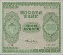 Norway / Norwegen: 50 Kroner 1945, P.27, Excellent Condition, Still Crisp Paper And Bright Colors, J - Norway