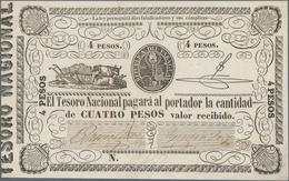 Paraguay: El Tesorion Nacional 4 Pesos ND(1862), P.16 In VF/VF+ Condition. - Paraguay