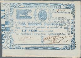 Paraguay: El Tesorio Nacional 1 Peso ND(1865), P.21 In XF/XF+ Condition - Paraguay