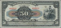 Peru: 50 Soles 1941, P.68A In About XF Condition. - Peru