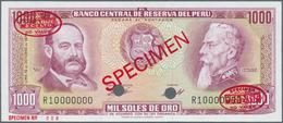Peru:  Banco Central De Reserva Del Perú 1000 Soles De Oro October 16th 1970 SPECIMEN, P.105as In Pe - Peru