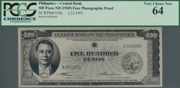 Philippines / Philippinen: Highly Rare Set With 3 Unlisted Archive Photographic Proofs For 2 Pesos B - Philippines