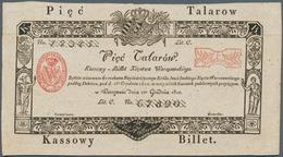 Poland / Polen: 5 Talarow 1810 Specimen, Or Formular, With Serial Number 1234567890 And W/o Signatur - Poland