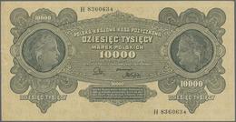Poland / Polen: 10.000 Marek Polskich 1922, P.32, Almost Perfect Condition, Just A Few Minor Craeses - Poland