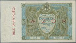 Poland / Polen: 20 Zlotych 1926 Specimen, P.66s In Perfect UNC Condition. Very Rare! - Poland