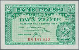 Poland / Polen: 2 Zlote 1939 Remainder, P.80r In Perfect UNC Condition. Very Rare! - Poland