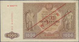 Poland / Polen: Small Lot With 3 Banknotes 1000 Zlotych 1946 SPECIMEN P.122s (F+), 50 Zlotych 1946 S - Poland