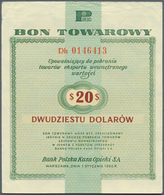 Poland / Polen: Bon Towarowy 20 Dollars 1960, P.FX18, Nice Used Condition With Small Folds And Creas - Poland