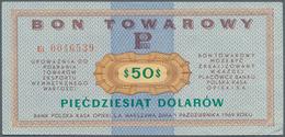 Poland / Polen: Bon Towarowy 50 Dolarow 1969, P.FX32, Edge Bend At Lower Right, Creases In The Paper - Poland