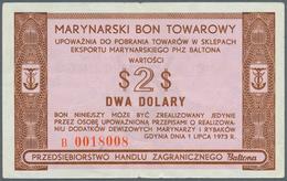 Poland / Polen: Marinarsky Bon Towarowy - Baltona, 2 Dolary 1973, P.FX54, Tiny Tears At Upper And Lo - Poland