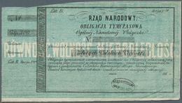 Poland / Polen: 500 Zlotych ND(1863) Obligacja Tymczasowa In Used Condition, Taped On Back. Conditio - Poland