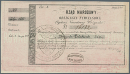 Poland / Polen: 100 Zlotych ND(1863) Obligacja Tymczasowa In Perfect UNC Condition - Poland