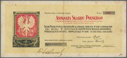 Poland / Polen: Asygnata Skarbu Polskiego 100 Rubli 1918, P.NL In Used Condition With Some Stains An - Poland