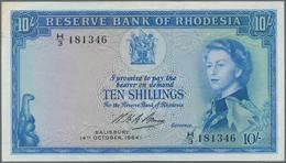 Rhodesia / Rhodesien: Reserve Bank Of Rhodesia 10 Shillings 1964, P.24, Almost Perfect, Just A Few T - Rhodesia