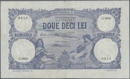 Romania / Rumänien: Banca Naţională A României Set With 6 Banknotes 20 Lei 1917 And 1929, P.20 (F, O - Romania
