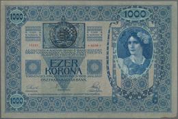 Romania / Rumänien: Transilvania (Siebenbürgen) & Banat 1000 Kronen 1902 (1919) Handstamp On The Hun - Romania