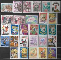 Monaco Lot De 28 Timbres Neufs ** Sur Le Théme Du Cirque  Petit Prix Neuf Sans Charniére - Timbres
