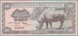 Rwanda-Burundi / Ruanda-Burundi: Banque D'Émission Du Rwanda Et Du Burundi 500 Francs September 15th - Ruanda-Urundi