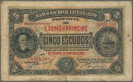 Saint Thomas & Prince / Sao Tome E Principe: Banco Nacional Ultramarino, Provincia De S. Tome E Prin - Sao Tome And Principe