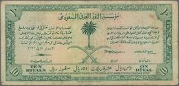 "Saudi Arabia  / Saudi Arabien: 10 Riyals AH1372 (1953) ""Haj Pilgrim Receipt"", P.1, Still Nice And Hi - Saudi Arabia"