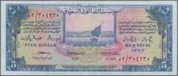 Saudi Arabia  / Saudi Arabien: Pair Of The 5 Riyals AH1373 (1954), P.3, One In VF+ With A Soft Verti - Saudi Arabia