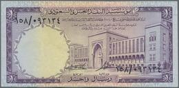 Saudi Arabia  / Saudi Arabien: Lot With 3 Banknotes 5 Riyals 1954 P.3 (F-), 5 Riyals 1961 P.7a(F+) A - Saudi Arabia