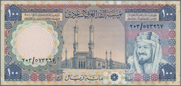 Saudi Arabia  / Saudi Arabien: 100 Riyals AH1379 (1976), P.20, Excellent Condition With A Soft Verti - Saudi Arabia