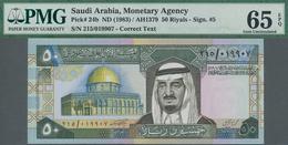 Saudi Arabia  / Saudi Arabien: Consecutive Pair Of The 50 Riyals ND(1983), P.24b, Both PMG Graded 65 - Saudi Arabia