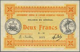 Senegal: Gouvernement Général De L'Afrique Occidentale Française, Colonie Du Senegal 2 Francs L.11.0 - Senegal