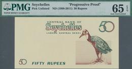 Seychelles / Seychellen: Central Bank Of Seychelles 50 Rupees ND(1998-2011) Progressive Proof, P.NL, - Seychelles