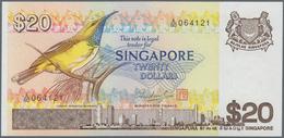Singapore / Singapur: Set Of 2 Notes Containing 20 & 50 Dollars 1976/79 P. 12, 13 In Condition: UNC. - Singapore
