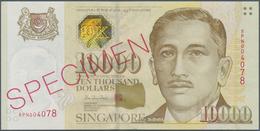 Singapore / Singapur: 10.000 Dollars ND(1999) SPECIMEN, P.44s, Sealed In Original Plastic Case Of Th - Singapore