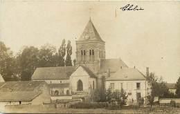 -dpts Div -ref-AJ354- Marne - Thibié - Carte Photo Quartier De L Eglise -  Carte Photo Bon Etat - - Autres Communes