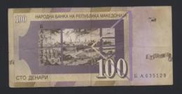 Banconota Macedonia 100 Dinari 2007 Circolata - Macedonia