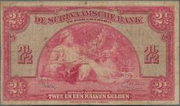 Suriname: 2 1/2 Gulden 1942, P.87b In About F Condition. - Surinam
