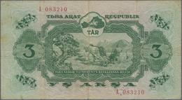 Tannu-Tuva / Tannu-Tuwa: Tuva Arat Respublik 3 Akşa 1940, P.16, Small Border Tears, Some Folds And L - Banknotes