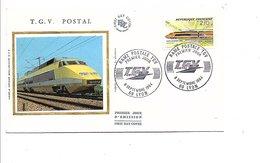 FDC 1984 RAME TGV - 1980-1989