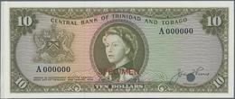 Trinidad & Tobago: 10 Dollars L.1964 With Signature: J. F. Pierce Color Trial Specimen, P.28acts, Sm - Trinidad & Tobago