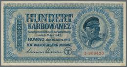 Ukraina / Ukraine: Very Nice Set With 3 Banknotes 25 Karbovantsiv 1919, 100 Karbovantsiv 1918 And 10 - Ukraine