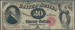 United States Of America: 20 Dollars Series Of 1880, Signature Elliot & White, P.180b(2) In Nice Con - United States Of America