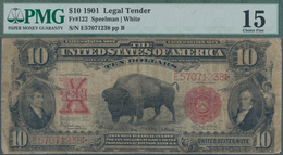 United States Of America: United States Note 10 Dollars 1901 With Signatures: Speelman & White, P.18 - United States Of America