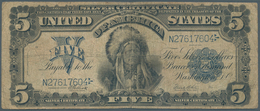 United States Of America: 5 Dollars Silver Certificate Series 1899, P.340 In Well Worn Condition Wit - United States Of America