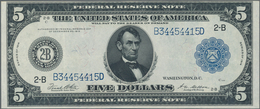 United States Of America: 5 Dollars 1914 Federal Reserve Note, P.359b, Excellent Condition With Stro - United States Of America