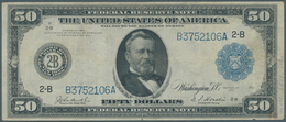 United States Of America: 50 Dollars Federal Reserve Note, Series 1914 With Portrai Of President Gra - United States Of America
