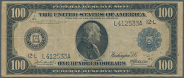 United States Of America: 100 Dollars Federal Reserve Note Series 1914 With Portrait Of Benjamin Fra - United States Of America
